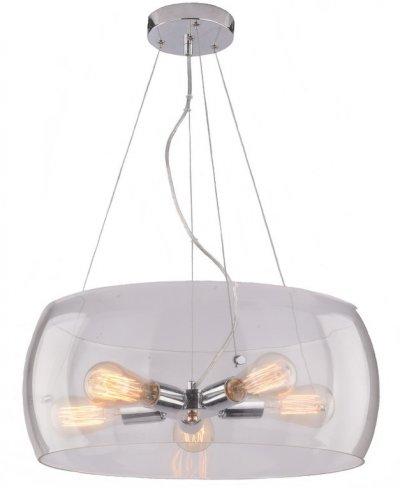 Светильник подвесной Arte lamp A8057SP-5CC FRESCURAПодвесные<br>Компания «Светодом» предлагает широкий ассортимент люстр от известных производителей. Представленные в нашем каталоге товары выполнены из современных материалов и обладают отличным качеством. Благодаря широкому ассортименту Вы сможете найти у нас люстру под любой интерьер. Мы предлагаем как классические варианты, так и современные модели, отличающиеся лаконичностью и простотой форм.  Стильная люстра Arte lamp A8057SP-5CC станет украшением любого дома. Эта модель от известного производителя не оставит равнодушным ценителей красивых и оригинальных предметов интерьера. Люстра Arte lamp A8057SP-5CC обеспечит равномерное распределение света по всей комнате. При выборе обратите внимание на характеристики, позволяющие приобрести наиболее подходящую модель. Купить понравившуюся люстру по доступной цене Вы можете в интернет-магазине «Светодом».<br><br>Установка на натяжной потолок: Да<br>S освещ. до, м2: 10<br>Крепление: Планка<br>Тип лампы: Накаливания / энергосбережения / светодиодная<br>Тип цоколя: E27<br>Количество ламп: 5<br>MAX мощность ламп, Вт: 40<br>Диаметр, мм мм: 500<br>Размеры: H20xW50xL50+шн/цп100<br>Высота, мм: 200 - 1200<br>Цвет арматуры: серебристый