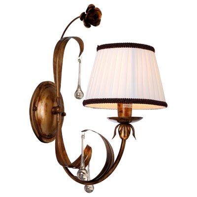 Светильник настенный Arte lamp A8100AP-1GA BorgiaРустика<br><br><br>S освещ. до, м2: 3<br>Крепление: пластина<br>Тип лампы: накаливания / энергосбережения / LED-светодиодная<br>Тип цоколя: E14<br>Количество ламп: 1<br>Ширина, мм: 390<br>MAX мощность ламп, Вт: 40<br>Диаметр, мм мм: 200<br>Длина, мм: 200<br>Высота, мм: 450<br>Цвет арматуры: коричневый