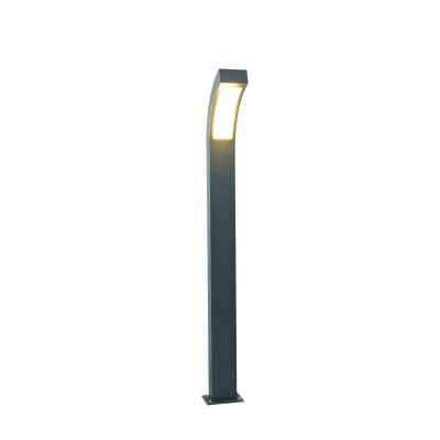 A8101PA-1GY Arte lamp СветильникОдиночные столбы<br><br><br>Цветовая t, К: 3000K<br>Тип цоколя: LED<br>Цвет арматуры: СЕРЫЙ<br>Количество ламп: 1<br>Диаметр, мм мм: 120<br>Размеры: L120*W190*H1200<br>Длина, мм: 190<br>Высота, мм: 1030<br>MAX мощность ламп, Вт: 12W<br>Общая мощность, Вт: 12W