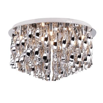 Светильник потолочный Arte lamp A8107PL-10CC Fuochiсовременные потолочные люстры модерн<br><br><br>Установка на натяжной потолок: Да<br>S освещ. до, м2: 20<br>Цветовая t, К: 2700K<br>Тип цоколя: G9<br>Цвет арматуры: Серебристый хром<br>Количество ламп: 10<br>Диаметр, мм мм: 600<br>Размеры: D600<br>Длина, мм: 600<br>Высота, мм: 330<br>MAX мощность ламп, Вт: 40W<br>Общая мощность, Вт: 40W