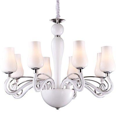 Люстра Arte lamp A8110LM-8WH BiancaneveПодвесные<br>Компания «Светодом» предлагает широкий ассортимент люстр от известных производителей. Представленные в нашем каталоге товары выполнены из современных материалов и обладают отличным качеством. Благодаря широкому ассортименту Вы сможете найти у нас люстру под любой интерьер. Мы предлагаем как классические варианты, так и современные модели, отличающиеся лаконичностью и простотой форм. <br>Стильная люстра Arte lamp A8110LM-8WH станет украшением любого дома. Эта модель от известного производителя не оставит равнодушным ценителей красивых и оригинальных предметов интерьера. Люстра Arte lamp A8110LM-8WH обеспечит равномерное распределение света по всей комнате. При выборе обратите внимание на характеристики, позволяющие приобрести наиболее подходящую модель. <br>Купить понравившуюся люстру по доступной цене Вы можете в интернет-магазине «Светодом».<br><br>Установка на натяжной потолок: Да<br>S освещ. до, м2: 21<br>Крепление: Крюк<br>Тип лампы: накаливания / энергосбережения / LED-светодиодная<br>Тип цоколя: E14<br>Цвет арматуры: серебристый хром<br>Количество ламп: 8<br>Диаметр, мм мм: 730<br>Высота, мм: 550 - 1200<br>MAX мощность ламп, Вт: 40