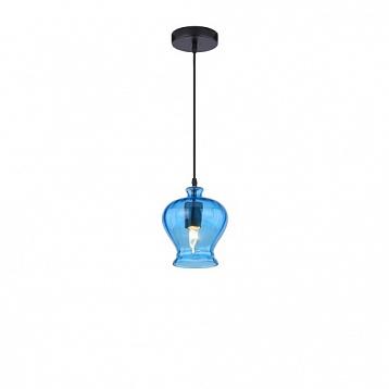 Светильник подвесной Arte lamp A8127SP-1BL FESTAОдиночные<br><br><br>Тип товара: Светильник подвесной<br>Тип лампы: Накаливания / энергосбережения / светодиодная<br>Тип цоколя: E27<br>Количество ламп: 1<br>MAX мощность ламп, Вт: 40<br>Размеры: H19xW11xL11+шн/цп100<br>Цвет арматуры: синий
