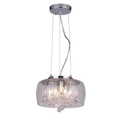 A8145SP-5CC Arte lamp СветильникПодвесные<br><br><br>Установка на натяжной потолок: Да<br>S освещ. до, м2: 7<br>Крепление: Планка<br>Цветовая t, К: 2700K<br>Тип цоколя: G9<br>Цвет арматуры: Серебристый хром<br>Количество ламп: 5<br>Диаметр, мм мм: 280<br>Длина цепи/провода, мм: 1000<br>Длина, мм: 280<br>Высота, мм: 160<br>MAX мощность ламп, Вт: 28W<br>Общая мощность, Вт: 28W