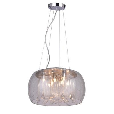 A8145SP-7CC Arte lamp СветильникПодвесные<br><br><br>Установка на натяжной потолок: Да<br>S освещ. до, м2: 10<br>Крепление: Планка<br>Цветовая t, К: 2700K<br>Тип цоколя: G9<br>Цвет арматуры: Серебристый хром<br>Количество ламп: 7<br>Диаметр, мм мм: 400<br>Длина цепи/провода, мм: 1000<br>Длина, мм: 400<br>Высота, мм: 200<br>MAX мощность ламп, Вт: 28W<br>Общая мощность, Вт: 28W