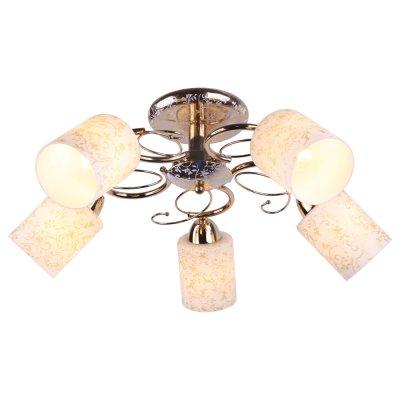 Люстра Arte lamp A8164PL-5GO OrnellaПотолочные<br>Отличную модель светильника Arte lamp A8164PL-5GO из серии ORNELLA производства Италии возможно купить оптом и в розницу на официальном сайте интернет-магазина Светодом.<br><br>Установка на натяжной потолок: Ограничено<br>S освещ. до, м2: 20<br>Крепление: Планка<br>Тип лампы: накаливания / энергосбережения / LED-светодиодная<br>Тип цоколя: E27<br>Количество ламп: 5<br>MAX мощность ламп, Вт: 60<br>Диаметр, мм мм: 60<br>Высота, мм: 23<br>Цвет арматуры: золотой