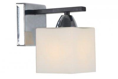 Светильник настенный бра Arte lamp A8165AP-1BK VISUALEМодерн<br><br><br>Тип цоколя: E27<br>Количество ламп: 1<br>MAX мощность ламп, Вт: 40<br>Размеры: H18xW10xL15<br>Цвет арматуры: серебристый