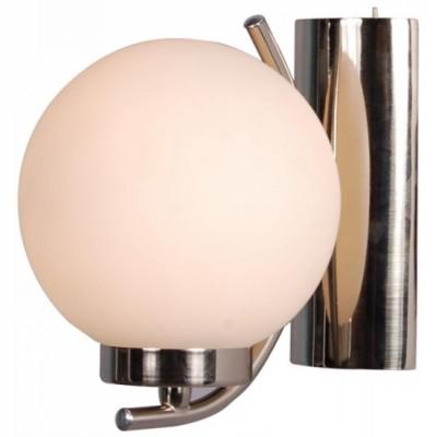 Светильник бра Arte lamp A8170AP-1SS CloudМодерн<br><br><br>S освещ. до, м2: 3<br>Тип товара: Светильник настенный бра<br>Скидка, %: 6<br>Тип лампы: накаливания / энергосбережения / LED-светодиодная<br>Тип цоколя: E14<br>Количество ламп: 1<br>Ширина, мм: 140<br>MAX мощность ламп, Вт: 40<br>Диаметр, мм мм: 170<br>Расстояние от стены, мм: 170<br>Высота, мм: 160<br>Цвет арматуры: серый