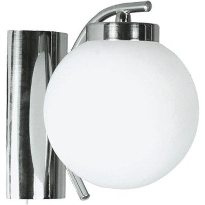 Светильник бра Arte lamp A8170AP-1SS CloudСовременные<br><br><br>S освещ. до, м2: 3<br>Тип лампы: накаливания / энергосбережения / LED-светодиодная<br>Тип цоколя: E14<br>Количество ламп: 1<br>Ширина, мм: 140<br>MAX мощность ламп, Вт: 40<br>Диаметр, мм мм: 170<br>Расстояние от стены, мм: 170<br>Высота, мм: 160<br>Цвет арматуры: серый