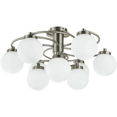 Люстра Arte lamp A8170PL-9AB CloudПотолочные<br>Компания «Светодом» предлагает широкий ассортимент люстр от известных производителей. Представленные в нашем каталоге товары выполнены из современных материалов и обладают отличным качеством. Благодаря широкому ассортименту Вы сможете найти у нас люстру под любой интерьер. Мы предлагаем как классические варианты, так и современные модели, отличающиеся лаконичностью и простотой форм. <br>Стильная люстра Arte lamp A8170PL-9AB станет украшением любого дома. Эта модель от известного производителя не оставит равнодушным ценителей красивых и оригинальных предметов интерьера. Люстра Arte lamp A8170PL-9AB обеспечит равномерное распределение света по всей комнате. При выборе обратите внимание на характеристики, позволяющие приобрести наиболее подходящую модель. <br>Купить понравившуюся люстру по доступной цене Вы можете в интернет-магазине «Светодом».<br><br>Установка на натяжной потолок: Да<br>S освещ. до, м2: 24<br>Крепление: Планка<br>Тип лампы: накаливания / энергосбережения / LED-светодиодная<br>Тип цоколя: E14<br>Количество ламп: 9<br>Ширина, мм: 600<br>MAX мощность ламп, Вт: 40<br>Диаметр, мм мм: 600<br>Высота, мм: 300<br>Цвет арматуры: бронзовый