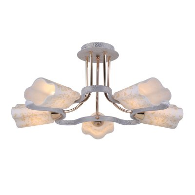 Люстра Arte lamp A8182PL-5WG RomolaПотолочные<br>Отличную модель светильника Arte lamp A8182PL-5WG из серии ROMOLA производства Италии возможно купить оптом и в розницу на официальном сайте интернет-магазина Светодом.<br><br>Установка на натяжной потолок: Да<br>S освещ. до, м2: 20<br>Крепление: Планка<br>Тип лампы: накаливания / энергосбережения / LED-светодиодная<br>Тип цоколя: E14<br>Цвет арматуры: белый с золотистой патиной<br>Количество ламп: 5<br>Диаметр, мм мм: 55<br>Высота, мм: 27<br>MAX мощность ламп, Вт: 60