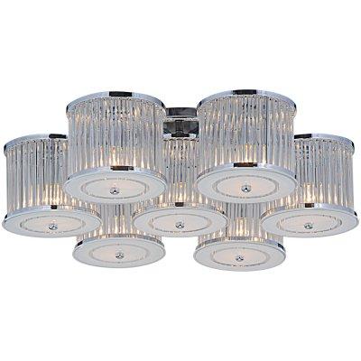 Светильник Arte lamp A8240PL-7CC GlassyПотолочные<br>Компания «Светодом» предлагает широкий ассортимент люстр от известных производителей. Представленные в нашем каталоге товары выполнены из современных материалов и обладают отличным качеством. Благодаря широкому ассортименту Вы сможете найти у нас люстру под любой интерьер. Мы предлагаем как классические варианты, так и современные модели, отличающиеся лаконичностью и простотой форм.  Стильная люстра Arte lamp A8240PL-7CC станет украшением любого дома. Эта модель от известного производителя не оставит равнодушным ценителей красивых и оригинальных предметов интерьера. Люстра Arte lamp A8240PL-7CC обеспечит равномерное распределение света по всей комнате. При выборе обратите внимание на характеристики, позволяющие приобрести наиболее подходящую модель. Купить понравившуюся люстру по доступной цене Вы можете в интернет-магазине «Светодом». Мы предлагаем доставку не только по Москве и Екатеринбурге, но и по всей России.<br><br>Установка на натяжной потолок: Ограничено<br>S освещ. до, м2: 14<br>Крепление: Планка<br>Тип лампы: накал-я - энергосбер-я<br>Тип цоколя: E14<br>Количество ламп: 7<br>MAX мощность ламп, Вт: 40<br>Диаметр, мм мм: 750<br>Высота, мм: 210<br>Цвет арматуры: серебристый