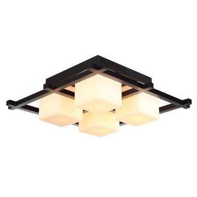 Светильник потолочный Arte lamp A8252PL-4CK WOODSВосточный стиль<br>Компания «Светодом» предлагает широкий ассортимент люстр от известных производителей. Представленные в нашем каталоге товары выполнены из современных материалов и обладают отличным качеством. Благодаря широкому ассортименту Вы сможете найти у нас люстру под любой интерьер. Мы предлагаем как классические варианты, так и современные модели, отличающиеся лаконичностью и простотой форм.  Стильная люстра Arte lamp A8252PL-4CK станет украшением любого дома. Эта модель от известного производителя не оставит равнодушным ценителей красивых и оригинальных предметов интерьера. Люстра Arte lamp A8252PL-4CK обеспечит равномерное распределение света по всей комнате. При выборе обратите внимание на характеристики, позволяющие приобрести наиболее подходящую модель. Купить понравившуюся люстру по доступной цене Вы можете в интернет-магазине «Светодом». Мы предлагаем доставку не только по Москве и Екатеринбурге, но и по всей России.<br><br>Установка на натяжной потолок: Ограничено<br>S освещ. до, м2: 12<br>Крепление: Планка<br>Тип товара: Светильник потолочный<br>Тип лампы: Накаливания / энергосбережения / светодиодная<br>Тип цоколя: E14<br>Количество ламп: 4<br>MAX мощность ламп, Вт: 60<br>Размеры: H20xW52xL52<br>Цвет арматуры: коричневый