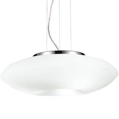 Светильник Arte lamp A8340SP-3CC HyperbolaОдиночные<br><br><br>Тип товара: Светильник подвесной<br>Скидка, %: 11<br>Тип лампы: накаливания / энергосбережения / LED-светодиодная<br>Тип цоколя: E27<br>Количество ламп: 3<br>MAX мощность ламп, Вт: 60<br>Диаметр, мм мм: 400<br>Высота, мм: 200 - 1000<br>Цвет арматуры: серебристый