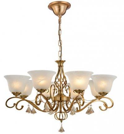 Светильник подвесной Arte lamp A8391LM-8PB CONOПодвесные<br>Компания «Светодом» предлагает широкий ассортимент люстр от известных производителей. Представленные в нашем каталоге товары выполнены из современных материалов и обладают отличным качеством. Благодаря широкому ассортименту Вы сможете найти у нас люстру под любой интерьер. Мы предлагаем как классические варианты, так и современные модели, отличающиеся лаконичностью и простотой форм. <br>Стильная люстра Arte lamp A8391LM-8PB станет украшением любого дома. Эта модель от известного производителя не оставит равнодушным ценителей красивых и оригинальных предметов интерьера. Люстра Arte lamp A8391LM-8PB обеспечит равномерное распределение света по всей комнате. При выборе обратите внимание на характеристики, позволяющие приобрести наиболее подходящую модель. <br>Купить понравившуюся люстру по доступной цене Вы можете в интернет-магазине «Светодом».<br><br>Установка на натяжной потолок: Да<br>S освещ. до, м2: 24<br>Тип цоколя: E27<br>Цвет арматуры: медный<br>Количество ламп: 8<br>Диаметр, мм мм: 780<br>Размеры: H62xW78xL78+шн/цп120<br>Высота, мм: 620<br>MAX мощность ламп, Вт: 60