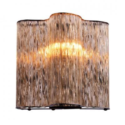Светильник настенный бра Arte lamp A8560AP-1CG TWINKLEХрустальные<br><br><br>Тип лампы: Накаливания / энергосбережения / светодиодная<br>Тип цоколя: E27<br>Цвет арматуры: коричневый<br>Количество ламп: 1<br>Размеры: H18xW10xL19<br>MAX мощность ламп, Вт: 40
