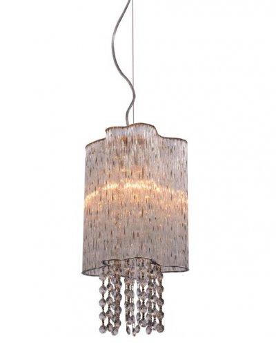 Светильник подвесной Arte lamp A8560SP-1CL TWINKLEОдиночные<br><br><br>Тип товара: Светильник подвесной<br>Тип лампы: Накаливания / энергосбережения / светодиодная<br>Тип цоколя: E14<br>Количество ламп: 1<br>MAX мощность ламп, Вт: 40<br>Размеры: H33xW20xL20+шн/цп120<br>Цвет арматуры: серебристый