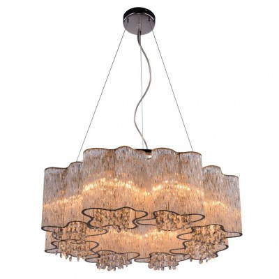 Светильник подвесной Arte lamp A8560SP-8CL TWINKLEПодвесные<br>Компания «Светодом» предлагает широкий ассортимент люстр от известных производителей. Представленные в нашем каталоге товары выполнены из современных материалов и обладают отличным качеством. Благодаря широкому ассортименту Вы сможете найти у нас люстру под любой интерьер. Мы предлагаем как классические варианты, так и современные модели, отличающиеся лаконичностью и простотой форм.  Стильная люстра Arte lamp A8560SP-8CL станет украшением любого дома. Эта модель от известного производителя не оставит равнодушным ценителей красивых и оригинальных предметов интерьера. Люстра Arte lamp A8560SP-8CL обеспечит равномерное распределение света по всей комнате. При выборе обратите внимание на характеристики, позволяющие приобрести наиболее подходящую модель. Купить понравившуюся люстру по доступной цене Вы можете в интернет-магазине «Светодом».<br><br>Установка на натяжной потолок: Да<br>S освещ. до, м2: 16<br>Крепление: Планка<br>Тип лампы: Накаливания / энергосбережения / светодиодная<br>Тип цоколя: E14<br>Количество ламп: 8<br>MAX мощность ламп, Вт: 40<br>Диаметр, мм мм: 650<br>Размеры: H20xW65xL65+шн/цп120<br>Высота, мм: 200 - 1400<br>Цвет арматуры: серебристый
