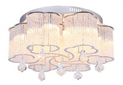 Светильник потолочный Arte lamp A8561PL-15CL ONDATAПотолочные<br><br><br>Установка на натяжной потолок: Ограничено<br>S освещ. до, м2: 25<br>Крепление: Планка<br>Тип товара: Светильник потолочный<br>Тип лампы: галогенная/LED<br>Тип цоколя: G9<br>Количество ламп: 15<br>MAX мощность ламп, Вт: 33<br>Размеры: H18xW50xL50<br>Цвет арматуры: серебристый