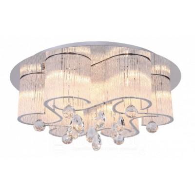 Светильник потолочный Arte lamp A8562PL-15CL ONDATAПотолочные<br>Компания «Светодом» предлагает широкий ассортимент люстр от известных производителей. Представленные в нашем каталоге товары выполнены из современных материалов и обладают отличным качеством. Благодаря широкому ассортименту Вы сможете найти у нас люстру под любой интерьер. Мы предлагаем как классические варианты, так и современные модели, отличающиеся лаконичностью и простотой форм.  Стильная люстра Arte lamp A8562PL-15CL станет украшением любого дома. Эта модель от известного производителя не оставит равнодушным ценителей красивых и оригинальных предметов интерьера. Люстра Arte lamp A8562PL-15CL обеспечит равномерное распределение света по всей комнате. При выборе обратите внимание на характеристики, позволяющие приобрести наиболее подходящую модель. Купить понравившуюся люстру по доступной цене Вы можете в интернет-магазине «Светодом».<br><br>Установка на натяжной потолок: Да<br>S освещ. до, м2: 25<br>Крепление: Планка<br>Тип лампы: Накаливания / энергосбережения / светодиодная<br>Тип цоколя: G9<br>Цвет арматуры: серебристый<br>Количество ламп: 15<br>Диаметр, мм мм: 600<br>Размеры: H25xW60xL60<br>Высота, мм: 250<br>MAX мощность ламп, Вт: 33