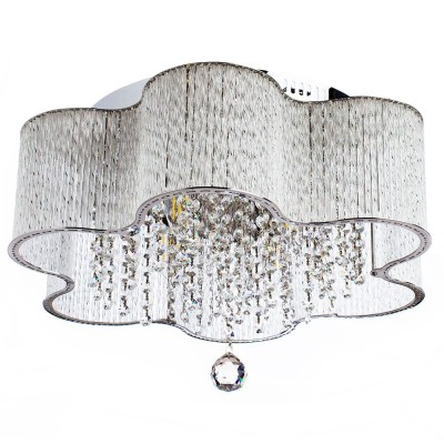 Светильник потолочный Arte lamp A8565PL-4CL DILETTOПотолочные<br>Компания «Светодом» предлагает широкий ассортимент люстр от известных производителей. Представленные в нашем каталоге товары выполнены из современных материалов и обладают отличным качеством. Благодаря широкому ассортименту Вы сможете найти у нас люстру под любой интерьер. Мы предлагаем как классические варианты, так и современные модели, отличающиеся лаконичностью и простотой форм.  Стильная люстра Arte lamp A8565PL-4CL станет украшением любого дома. Эта модель от известного производителя не оставит равнодушным ценителей красивых и оригинальных предметов интерьера. Люстра Arte lamp A8565PL-4CL обеспечит равномерное распределение света по всей комнате. При выборе обратите внимание на характеристики, позволяющие приобрести наиболее подходящую модель. Купить понравившуюся люстру по доступной цене Вы можете в интернет-магазине «Светодом».<br><br>Установка на натяжной потолок: Ограничено<br>S освещ. до, м2: 8<br>Крепление: Планка<br>Тип лампы: Накаливания / энергосбережения / светодиодная<br>Тип цоколя: E14<br>Цвет арматуры: серебристый<br>Количество ламп: 4<br>Диаметр, мм мм: 500<br>Размеры: H27xW50xL50<br>Высота, мм: 270<br>MAX мощность ламп, Вт: 40