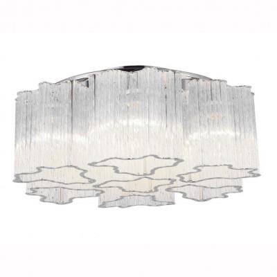 Светильник потолочный Arte lamp A8567PL-7CL DILETTOхрустальные потолочные люстры<br>Компания «Светодом» предлагает широкий ассортимент люстр от известных производителей. Представленные в нашем каталоге товары выполнены из современных материалов и обладают отличным качеством. Благодаря широкому ассортименту Вы сможете найти у нас люстру под любой интерьер. Мы предлагаем как классические варианты, так и современные модели, отличающиеся лаконичностью и простотой форм.  Стильная люстра Arte lamp A8567PL-7CL станет украшением любого дома. Эта модель от известного производителя не оставит равнодушным ценителей красивых и оригинальных предметов интерьера. Люстра Arte lamp A8567PL-7CL обеспечит равномерное распределение света по всей комнате. При выборе обратите внимание на характеристики, позволяющие приобрести наиболее подходящую модель. Купить понравившуюся люстру по доступной цене Вы можете в интернет-магазине «Светодом».<br><br>Установка на натяжной потолок: Ограничено<br>S освещ. до, м2: 14<br>Крепление: Планка<br>Тип лампы: Накаливания / энергосбережения / светодиодная<br>Тип цоколя: E14<br>Цвет арматуры: серебристый<br>Количество ламп: 7<br>Диаметр, мм мм: 500<br>Размеры: H18xW50xL50<br>Высота, мм: 180<br>MAX мощность ламп, Вт: 40