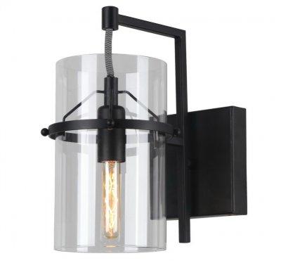 Светильник настенный бра Arte lamp A8586AP-1BK PIATTOЛофт<br><br><br>Тип цоколя: E14<br>Цвет арматуры: черный<br>Количество ламп: 1<br>Размеры: H27xW23xL12<br>MAX мощность ламп, Вт: 40
