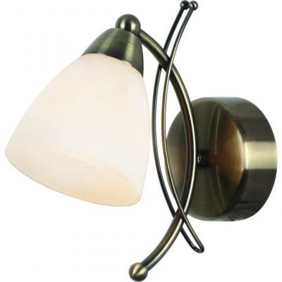 Светильник настенный бра Arte lamp A8612AP-1AB PANNAМодерн<br><br><br>Тип цоколя: E14<br>Количество ламп: 1<br>MAX мощность ламп, Вт: 40<br>Размеры: H23xW22xL10<br>Цвет арматуры: бронзовый