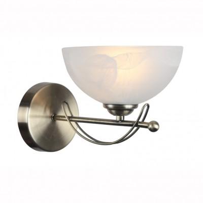 Светильник настенный бра Arte lamp A8615AP-1AB NINNAСовременные<br><br><br>Тип цоколя: E27<br>Цвет арматуры: античный бронзовый<br>Количество ламп: 1<br>Размеры: H25xW30xL18<br>MAX мощность ламп, Вт: 40