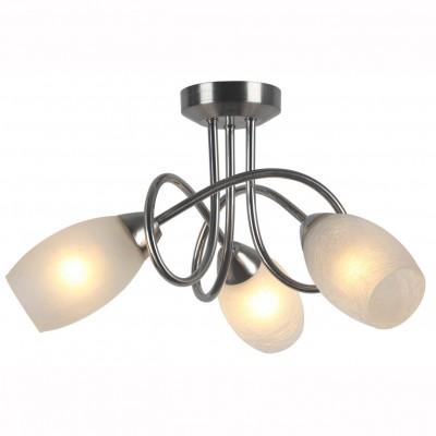 Светильник потолочный Arte lamp A8616PL-3SS MUTTIПотолочные<br><br><br>S освещ. до, м2: 6<br>Тип цоколя: E14<br>Количество ламп: 3<br>MAX мощность ламп, Вт: 40<br>Размеры: H23xW45xL45<br>Цвет арматуры: серебристый