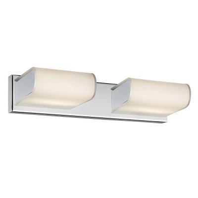Светильник Arte lamp A8856AP-2CC LIBRIСовременные<br><br><br>Тип лампы: LED<br>Тип цоколя: G9<br>Цвет арматуры: серебристый<br>Количество ламп: 2<br>Ширина, мм: 120<br>Длина, мм: 470<br>Высота, мм: 50<br>MAX мощность ламп, Вт: 28