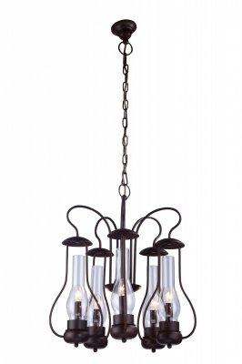 Подвесная люстра Arte lamp A8955LM-5BR BulboСнято с производства<br><br><br>S освещ. до, м2: 10<br>Крепление: металлический крюк<br>Тип товара: Люстра подвесная<br>Скидка, %: 24<br>Тип лампы: накаливания / энергосбережения / LED-светодиодная<br>Тип цоколя: E14<br>Количество ламп: 5<br>MAX мощность ламп, Вт: 40<br>Диаметр, мм мм: 550<br>Длина цепи/провода, мм: 750<br>Высота, мм: 570<br>Оттенок (цвет): Прозрачный<br>Цвет арматуры: коричневый