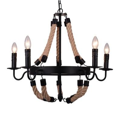Светильник подвесной Arte lamp A8956LM-5BK Marsigliaлюстры подвесные в морском стиле<br><br><br>S освещ. до, м2: 10<br>Крепление: Планка<br>Тип лампы: накаливания / энергосбережения / LED-светодиодная<br>Тип цоколя: E14<br>Цвет арматуры: ЧЕРНЫЙ<br>Количество ламп: 5<br>Диаметр, мм мм: 660<br>Длина цепи/провода, мм: 1000<br>Размеры: D650*H580<br>Длина, мм: 660<br>Высота, мм: 570<br>MAX мощность ламп, Вт: 40W<br>Общая мощность, Вт: 40W