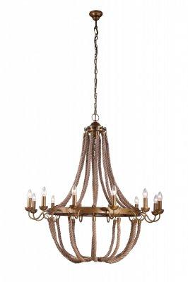 Подвесная люстра Arte lamp A8957LM-12BZ AmacaПодвесные<br><br><br>Установка на натяжной потолок: Да<br>S освещ. до, м2: 24<br>Крепление: Крюк<br>Тип товара: Люстра подвесная<br>Тип лампы: накаливания / энергосбережения / LED-светодиодная<br>Тип цоколя: E14<br>Количество ламп: 12<br>MAX мощность ламп, Вт: 40<br>Диаметр, мм мм: 1000<br>Длина цепи/провода, мм: 750<br>Высота, мм: 1000<br>Цвет арматуры: бронзовый