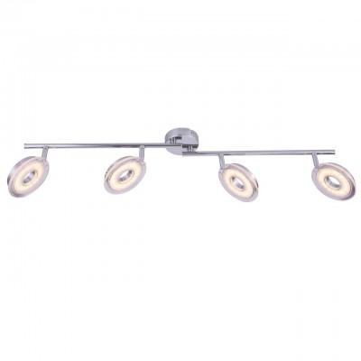 Светильник потолочный Arte lamp A8971PL-4CC FASCIOС 4 лампами<br>Светильники-споты – это оригинальные изделия с современным дизайном. Они позволяют не ограничивать свою фантазию при выборе освещения для интерьера. Такие модели обеспечивают достаточно качественный свет. Благодаря компактным размерам Вы можете использовать несколько спотов для одного помещения.  Интернет-магазин «Светодом» предлагает необычный светильник-спот ARTE Lamp A8971PL-4CC по привлекательной цене. Эта модель станет отличным дополнением к люстре, выполненной в том же стиле. Перед оформлением заказа изучите характеристики изделия.  Купить светильник-спот ARTE Lamp A8971PL-4CC в нашем онлайн-магазине Вы можете либо с помощью формы на сайте, либо по указанным выше телефонам. Обратите внимание, что у нас склады не только в Москве и Екатеринбурге, но и других городах России.<br><br>S освещ. до, м2: 8<br>Тип цоколя: LED<br>Цвет арматуры: серебристый<br>Количество ламп: 4<br>Размеры: H10xW10xL83<br>MAX мощность ламп, Вт: 5