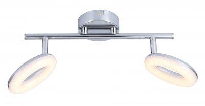 Светильник настенный бра Arte lamp A8972AP-2CC CIAMBELLAДвойные<br>Светильники-споты – это оригинальные изделия с современным дизайном. Они позволяют не ограничивать свою фантазию при выборе освещения для интерьера. Такие модели обеспечивают достаточно качественный свет. Благодаря компактным размерам Вы можете использовать несколько спотов для одного помещения.  Интернет-магазин «Светодом» предлагает необычный светильник-спот ARTE Lamp A8972AP-2CC по привлекательной цене. Эта модель станет отличным дополнением к люстре, выполненной в том же стиле. Перед оформлением заказа изучите характеристики изделия.  Купить светильник-спот ARTE Lamp A8972AP-2CC в нашем онлайн-магазине Вы можете либо с помощью формы на сайте, либо по указанным выше телефонам. Обратите внимание, что у нас склады не только в Москве и Екатеринбурге, но и других городах России.<br><br>S освещ. до, м2: 4<br>Тип цоколя: LED<br>Цвет арматуры: серебристый<br>Количество ламп: 2<br>Размеры: H9xW18xL32<br>MAX мощность ламп, Вт: 4