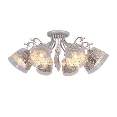 A9081PL-8WG Arte lamp СветильникПотолочные<br><br><br>Установка на натяжной потолок: Да<br>S освещ. до, м2: 16<br>Крепление: Планка<br>Тип цоколя: E14<br>Количество ламп: 8<br>MAX мощность ламп, Вт: 40W<br>Диаметр, мм мм: 830<br>Размеры: D795*H310mm<br>Длина, мм: 830<br>Высота, мм: 320<br>Цвет арматуры: белый-ЗОЛОТОЙ<br>Общая мощность, Вт: 40W