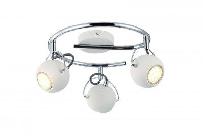 Светильник потолочный Arte lamp A9128PL-3WH SPIAТройные<br><br><br>Тип товара: Светильник потолочный<br>Тип цоколя: GU10<br>Количество ламп: 3<br>MAX мощность ламп, Вт: 50<br>Размеры: H18xW35xL35<br>Цвет арматуры: белый