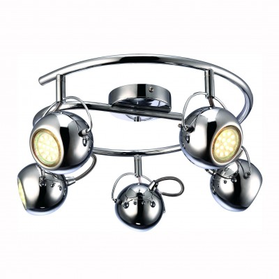 Светильник потолочный Arte lamp A9128PL-5CC SPIAБолее 5 ламп<br>Светильники-споты – это оригинальные изделия с современным дизайном. Они позволяют не ограничивать свою фантазию при выборе освещения для интерьера. Такие модели обеспечивают достаточно качественный свет. Благодаря компактным размерам Вы можете использовать несколько спотов для одного помещения.  Интернет-магазин «Светодом» предлагает необычный светильник-спот ARTE Lamp A9128PL-5CC по привлекательной цене. Эта модель станет отличным дополнением к люстре, выполненной в том же стиле. Перед оформлением заказа изучите характеристики изделия.  Купить светильник-спот ARTE Lamp A9128PL-5CC в нашем онлайн-магазине Вы можете либо с помощью формы на сайте, либо по указанным выше телефонам. Обратите внимание, что у нас склады не только в Москве и Екатеринбурге, но и других городах России.<br><br>S освещ. до, м2: 13<br>Тип цоколя: GU10<br>Цвет арматуры: серебристый<br>Количество ламп: 5<br>Размеры: H18xW43xL43<br>MAX мощность ламп, Вт: 50