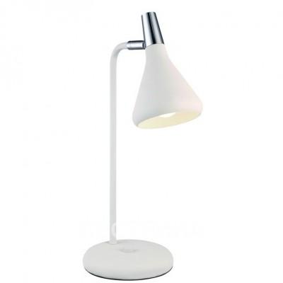 Светильник настольный Arte lamp A9154LT-1WH CICLONEСовременные<br>Настольная лампа – это не просто источник дополнительного освещения, но и оригинальный элемент декора. Его можно установить в спальне, гостиной, кабинете и других комнатах. Интернет-магазин «Светодом» предлагает настольные лампы разных стилей по доступным ценам. Благодаря большому ассортименту Вы обязательно найдете в нашем каталоге именно ту модель, которую искали.   Настольная лампа Arte lamp A9154LT-1WH – прекрасный вариант для завершения интерьера. Ее можно включить одновременно с люстрой для более яркого освещения или без нее для создания уютной атмосферы, настраивающей на отдых.   Купить настольную лампу Arte lamp A9154LT-1WH Вы можете с помощью виртуальной «Корзины» или по контактным номерам, указанным на сайте.<br><br>Тип цоколя: E14<br>Количество ламп: 1<br>MAX мощность ламп, Вт: 40<br>Размеры: H43xW16xL18<br>Цвет арматуры: белый