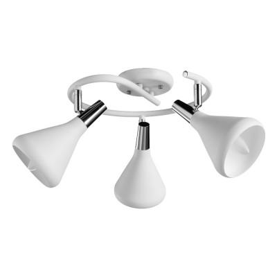 Светильник потолочный Arte lamp A9155PL-3WH CICLONEтройные споты<br>Светильники-споты – это оригинальные изделия с современным дизайном. Они позволяют не ограничивать свою фантазию при выборе освещения для интерьера. Такие модели обеспечивают достаточно качественный свет. Благодаря компактным размерам Вы можете использовать несколько спотов для одного помещения. <br>Интернет-магазин «Светодом» предлагает необычный светильник-спот ARTE Lamp A9155PL-3WH по привлекательной цене. Эта модель станет отличным дополнением к люстре, выполненной в том же стиле. Перед оформлением заказа изучите характеристики изделия. <br>Купить светильник-спот ARTE Lamp A9155PL-3WH в нашем онлайн-магазине Вы можете либо с помощью формы на сайте, либо по указанным выше телефонам. Обратите внимание, что у нас склады не только в Москве и Екатеринбурге, но и других городах России.
