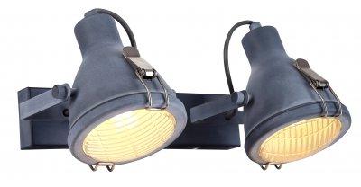 Светильник Arte Lamp A9178AP-2GYдвойные светильники споты<br>Светильник Arte Lamp A9178AP-2GY отличается поворотной способностью регулировки светового потока и сделает Ваше помещение современным, стильным и запоминающимся! Наиболее функционально и эстетически привлекательно модель будет смотреться в гостиной, зале, холле или другой комнате. А в комплекте с люстрой, бра или торшером из этой же коллекции сделает интерьер по-дизайнерски профессиональным и законченным.