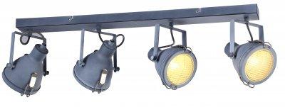 Светильник Arte Lamp A9178PL-4GYспоты 4 лампы<br>Светильник Arte Lamp A9178PL-4GY отличается поворотной способностью регулировки светового потока и сделает Ваше помещение современным, стильным и запоминающимся! Наиболее функционально и эстетически привлекательно модель будет смотреться в гостиной, зале, холле или другой комнате. А в комплекте с люстрой, бра или торшером из этой же коллекции сделает интерьер по-дизайнерски профессиональным и законченным.