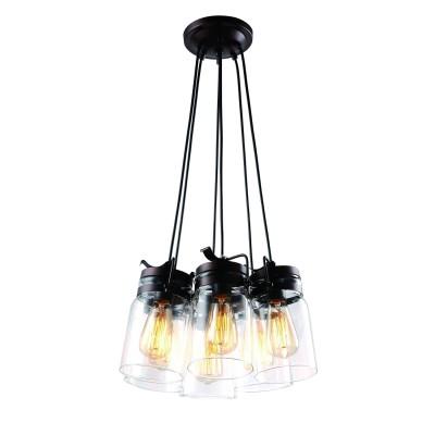 A9179SP-6CK Arte lamp СветильникПодвесные<br><br><br>Установка на натяжной потолок: Да<br>S освещ. до, м2: 18<br>Крепление: Планка<br>Тип лампы: Накаливания / энергосбережения / светодиодная<br>Тип цоколя: E27<br>Цвет арматуры: коричневый<br>Количество ламп: 6<br>Диаметр, мм мм: 280<br>Длина цепи/провода, мм: 1000<br>Размеры: L40*W275*H127<br>Длина, мм: 400<br>Высота, мм: 220<br>MAX мощность ламп, Вт: 60W<br>Общая мощность, Вт: 60W