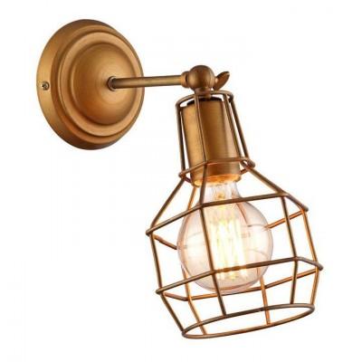 Светильник настенный бра Arte lamp A9182AP-1BZ INTERNOМорской стиль<br><br><br>Тип цоколя: E27<br>Количество ламп: 1<br>MAX мощность ламп, Вт: 40<br>Размеры: H27xW22xL15<br>Цвет арматуры: бронзовый
