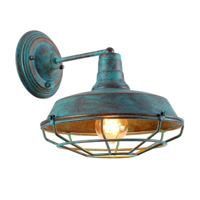 Светильник настенный Arte lamp A9183AP-1BG Ferricoбра в стиле лофт<br><br><br>Тип цоколя: E27<br>Цвет арматуры: СТАРАЯ МЕДЬ<br>Количество ламп: 1<br>Диаметр, мм мм: 270<br>Размеры: H28-L32*W27<br>Длина, мм: 300<br>Высота, мм: 260<br>MAX мощность ламп, Вт: 40W<br>Общая мощность, Вт: 40W