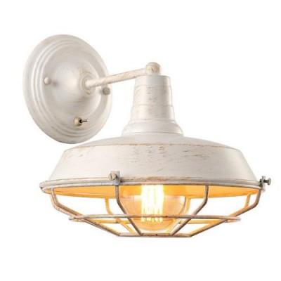 Светильник настенный Arte lamp A9183AP-1WG Ferricoбра в стиле лофт<br>Светильник настенный Arte lamp A9183AP-1WG Ferrico сразу же привлечет внимание благодаря своему необычному лофтовому дизайну и брутальному исполнению. Модель выполнена из качественных материалов, что обеспечивает ее надежную и долговечную работу. Такой вариант светильника можно использовать для интерьера не только гостиной, но и спальни или кабинета.