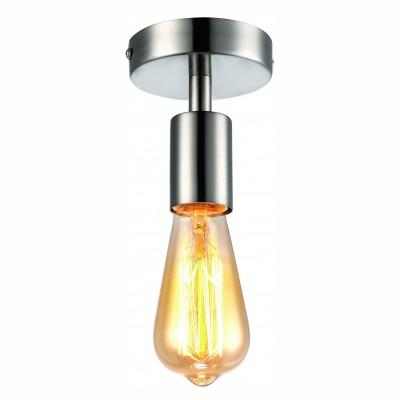 Светильник потолочный Arte lamp A9184PL-1SS FUORIПотолочные<br>Компания «Светодом» предлагает широкий ассортимент люстр от известных производителей. Представленные в нашем каталоге товары выполнены из современных материалов и обладают отличным качеством. Благодаря широкому ассортименту Вы сможете найти у нас люстру под любой интерьер. Мы предлагаем как классические варианты, так и современные модели, отличающиеся лаконичностью и простотой форм. <br>Стильная люстра Arte lamp A9184PL-1SS станет украшением любого дома. Эта модель от известного производителя не оставит равнодушным ценителей красивых и оригинальных предметов интерьера. Люстра Arte lamp A9184PL-1SS обеспечит равномерное распределение света по всей комнате. При выборе обратите внимание на характеристики, позволяющие приобрести наиболее подходящую модель. <br>Купить понравившуюся люстру по доступной цене Вы можете в интернет-магазине «Светодом». Мы предлагаем доставку не только по Москве и Екатеринбурге, но и по всей России.<br><br>Установка на натяжной потолок: Ограничено<br>S освещ. до, м2: 1<br>Крепление: Планка<br>Тип цоколя: Е27<br>Цвет арматуры: серебристый<br>Количество ламп: 1<br>Диаметр, мм мм: 100<br>Размеры: H12xW10xL10<br>Высота, мм: 120<br>MAX мощность ламп, Вт: 60