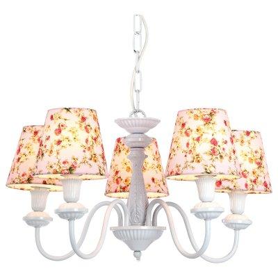 Люстра подвесная Arte lamp A9212LM-5WH ProvenceПодвесные<br>Компания «Светодом» предлагает широкий ассортимент люстр от известных производителей. Представленные в нашем каталоге товары выполнены из современных материалов и обладают отличным качеством. Благодаря широкому ассортименту Вы сможете найти у нас люстру под любой интерьер. Мы предлагаем как классические варианты, так и современные модели, отличающиеся лаконичностью и простотой форм. <br>Стильная люстра Arte lamp A9212LM-5WH станет украшением любого дома. Эта модель от известного производителя не оставит равнодушным ценителей красивых и оригинальных предметов интерьера. Люстра Arte lamp A9212LM-5WH обеспечит равномерное распределение света по всей комнате. При выборе обратите внимание на характеристики, позволяющие приобрести наиболее подходящую модель. <br>Купить понравившуюся люстру по доступной цене Вы можете в интернет-магазине «Светодом».<br><br>Установка на натяжной потолок: Да<br>S освещ. до, м2: 14<br>Крепление: Крюк<br>Тип лампы: накаливания / энергосбережения / LED-светодиодная<br>Тип цоколя: E14<br>Количество ламп: 5<br>Ширина, мм: 560<br>MAX мощность ламп, Вт: 40<br>Диаметр, мм мм: 560<br>Длина цепи/провода, мм: 900<br>Высота, мм: 300<br>Цвет арматуры: белый