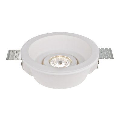 Точечный светильник Arte lamp A9215PL-1WH InvisibleГипсовые<br><br><br>S освещ. до, м2: 3<br>Тип товара: Светильник встраиваемый<br>Тип лампы: Галогеновые<br>Тип цоколя: GU10<br>Количество ламп: 1<br>MAX мощность ламп, Вт: 35<br>Диаметр, мм мм: 155<br>Высота, мм: 56<br>Цвет арматуры: белый