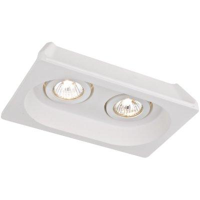 Точечный светильник Arte lamp A9215PL-2WH InvisibleГипсовые<br>Встраиваемые светильники – популярное осветительное оборудование, которое можно использовать в качестве основного источника или в дополнение к люстре. Они позволяют создать нужную атмосферу атмосферу и привнести в интерьер уют и комфорт.   Интернет-магазин «Светодом» предлагает стильный встраиваемый светильник ARTE Lamp A9215PL-2WH. Данная модель достаточно универсальна, поэтому подойдет практически под любой интерьер. Перед покупкой не забудьте ознакомиться с техническими параметрами, чтобы узнать тип цоколя, площадь освещения и другие важные характеристики.   Приобрести встраиваемый светильник ARTE Lamp A9215PL-2WH в нашем онлайн-магазине Вы можете либо с помощью «Корзины», либо по контактным номерам. Мы развозим заказы по Москве, Екатеринбургу и остальным российским городам.<br><br>S освещ. до, м2: 5<br>Тип лампы: Галогеновые<br>Тип цоколя: GU10<br>Количество ламп: 2<br>Ширина, мм: 155<br>MAX мощность ламп, Вт: 35<br>Длина, мм: 255<br>Высота, мм: 55<br>Цвет арматуры: белый